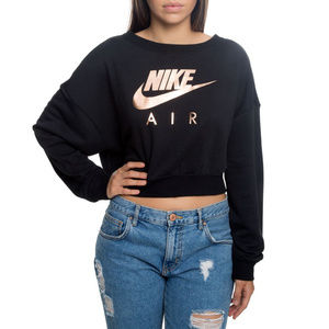 NEW Nike Air NSW Rally Crew Sweater Women's Black